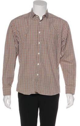 Billy Reid Plaid Dress Shirt