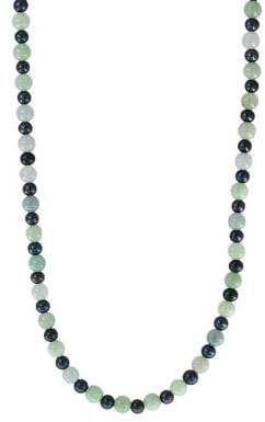 Effy 6-7MM Black Pearl & Green Jade Necklace