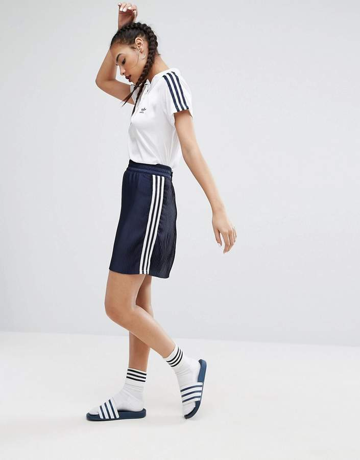 adidas Adidas adidas Originals Adicolor Deluxe Pleated Skirt