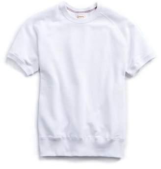 Todd Snyder + Champion Spring Short Sleeve Sweatshirt in White