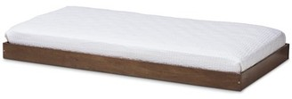 Baxton Studio Payton Modern and Contemporary Brown-Finished Twin Trundle