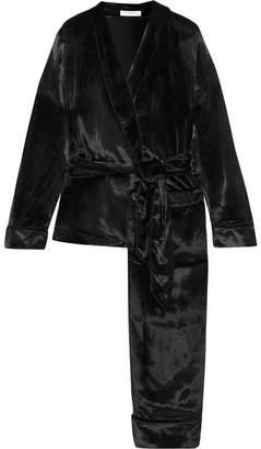 Equipment Odette Velvet Pajama Set - Black