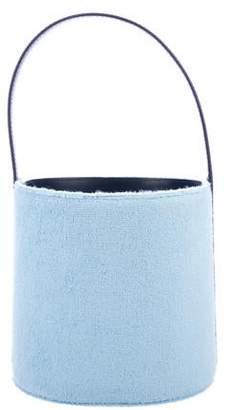 STAUD Bissett Leather-Trimmed Bucket Bag