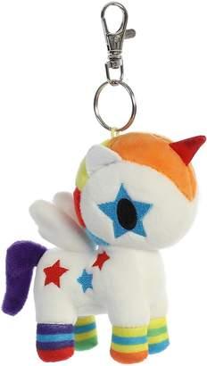 "Aurora Tokidoki Bowie Unicorno Plush Soft Toy Key Clip 4.5"" Keyring"