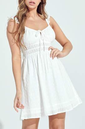 Pretty Little Things Eyelet Milkmaid Dress
