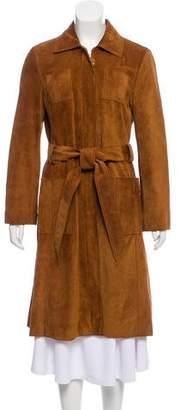Tory Burch Long Suede Coat