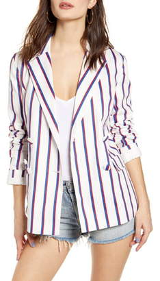ENGLISH FACTORY Striped Double Breasted Blazer