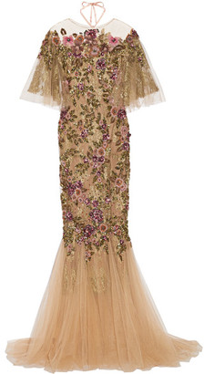 Marchesa - Embellished Tulle Gown - Neutral $10,990 thestylecure.com