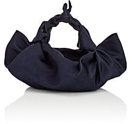 The Row Women s The Ascot Small Satin Bag - Navy b0c80e804204d