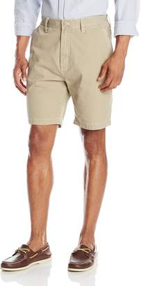 Nautica Men's Pigment Dyed Bedford Cord Flat Front Short