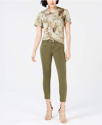 Hudson Nico Cropped Lace-Up Skinny Jeans