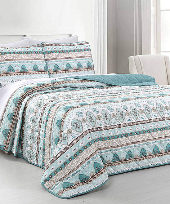 Albuquerque Reversible Quilted Coverlet Set