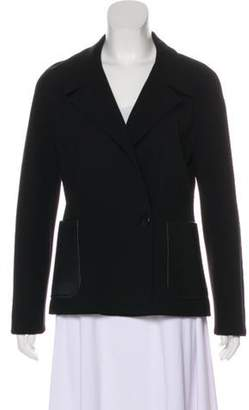 Max Mara Wool-Blend Notch-Lapel Blazer Black Wool-Blend Notch-Lapel Blazer