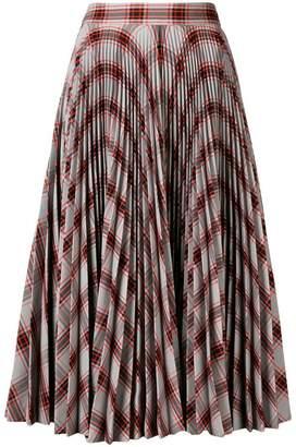 Calvin Klein geometric print pleated skirt