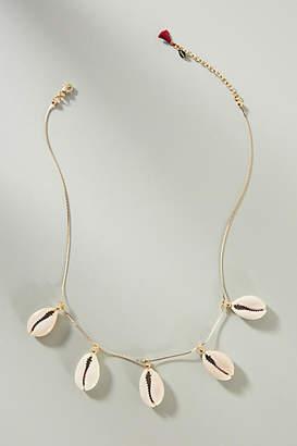 Shashi Caroline Shell 18K Gold Charm Necklace