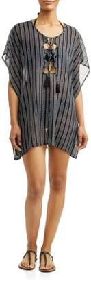 8858789708e2e Time and Tru Women s Stripe Chiffon Cover-Up