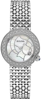 Bulova Women's Diamond Accent Stainless Steel Bracelet Watch 28mm 96R209 - A Macy's Exclusive $699 thestylecure.com