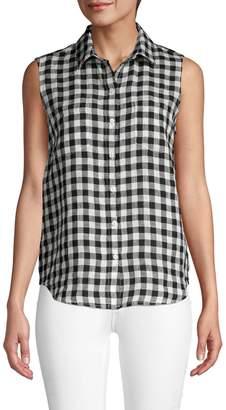 Saks Fifth Avenue Sleeveless Linen Button-Down Shirt