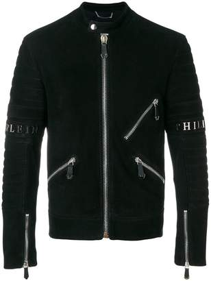 Philipp Plein Xavier Leather Moto jacket