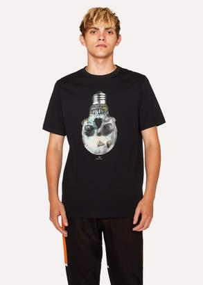 Paul Smith Men's Black 'Skull Bulb' Print Organic-Cotton T-Shirt