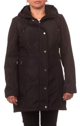Unbranded Women's Soft Shell Hooded Zip Front Anorak