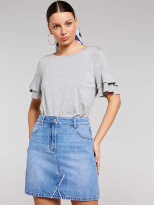 Portmans Australia Denim A-Line Mini Skirt
