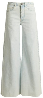 Raey Loon Wide Leg Jeans - Womens - Blue White
