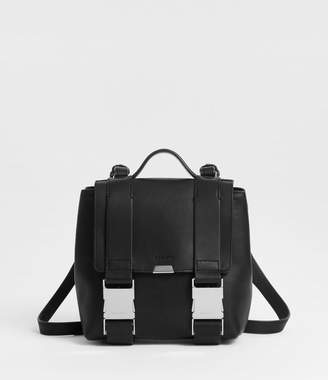 AllSaints Clip Leather Mini Backpack
