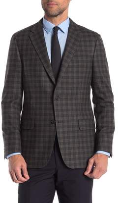 Hickey Freeman Checkered Classic Fit Wool & Cashmere Sportcoat