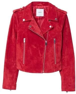 MANGO Suede biker jacket
