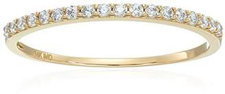 14k Gold Cubic Zirconia Round Brilliant Cut Channel Engagement Ring
