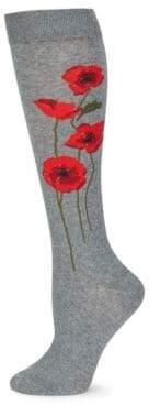 Kate Spade Falling Poppies Socks