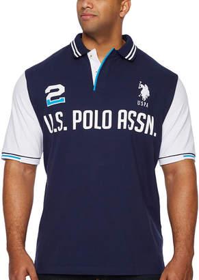 U.S. Polo Assn. USPA Embroidered Short Sleeve Knit Polo Shirt Big and Tall