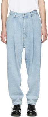Hed Mayner Blue Tapered Jeans