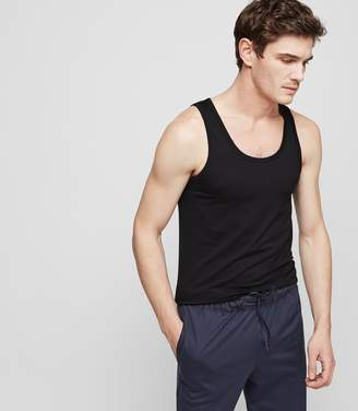 Reiss Our last order date for Christmas has now passed HANRO TANK TOP TANK TOP Black