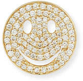 Sydney Evan Large Pavé Diamond Happy Face Stud Earring