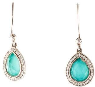 Ippolita Diamond, Quartz & Turquoise Doublet Lollipop Drop Earrings
