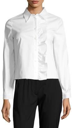 Prada Women's Ruffle Front Blouse