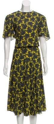 Michael Kors Paisley Printed Dress Green Paisley Printed Dress