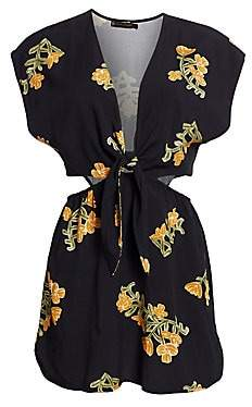 Hermanny ViX by Paula Women's Amber Floral Cut-Out Tunic Dress