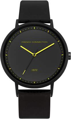 French Connection Men's Quartz Metal and Silicone Casual Watch, Color: (Model: FC1288BBY)