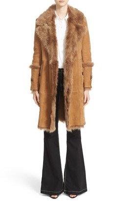 Women's Burberry 'Northcole' Genuine Shearling Coat $3,295 thestylecure.com