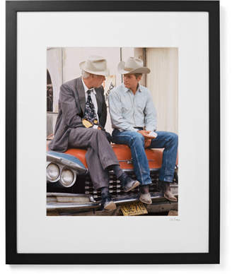 Sonic Editions Framed Paul Newman And Lee Marvin Pocket Money Print, 17 X 21