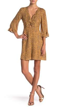 LE LIS 3\u002F4 Sleeve Printed Dress