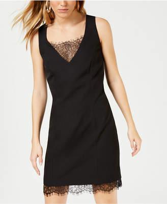 Bar III Lace-Trim Bodycon Dress