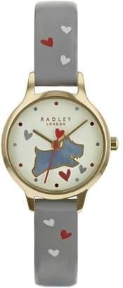 Ash Love Me, Love My Dog Grey Leather Watch
