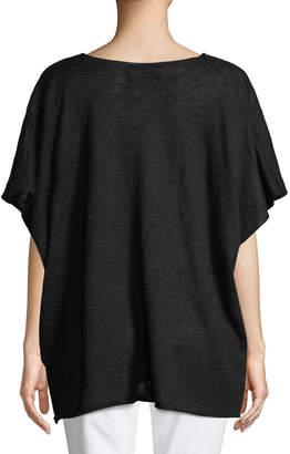 eskandar Cap-Sleeve Crossover Pullover Sweater