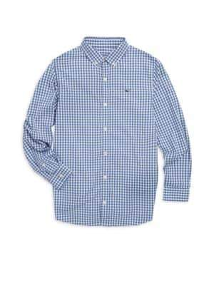 Vineyard Vines Little Boy's& Boy's Gingham Dress Shirt