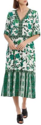 Grab NEW Dress Spliced Print Assorted