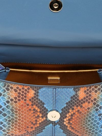 Dolce & Gabbana Small Sicily Reptile Patchwork Bag